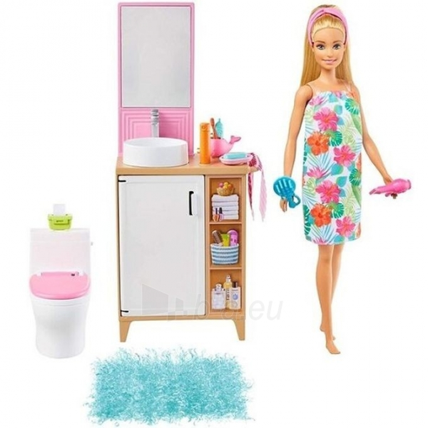 Lėlė GTD87 / GRG87 Barbie Bathroom MATTEL Paveikslėlis 1 iš 5 310820252921