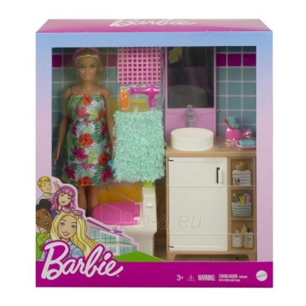Lėlė GTD87 / GRG87 Barbie Bathroom MATTEL Paveikslėlis 2 iš 5 310820252921