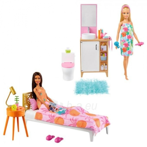 Lėlė GTD87 / GRG87 Barbie Bathroom MATTEL Paveikslėlis 3 iš 5 310820252921