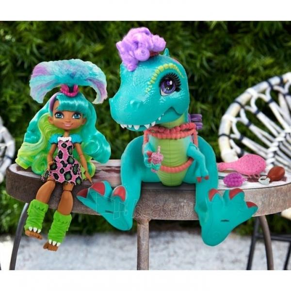 Lėlė GTL69 Cave Club Rockelle & Tyrasaurus Doll & Figure MATTEL Paveikslėlis 2 iš 5 310820252880
