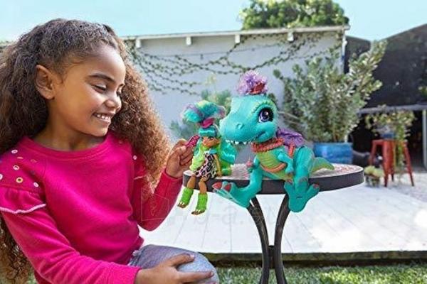 Lėlė GTL69 Cave Club Rockelle & Tyrasaurus Doll & Figure MATTEL Paveikslėlis 3 iš 5 310820252880