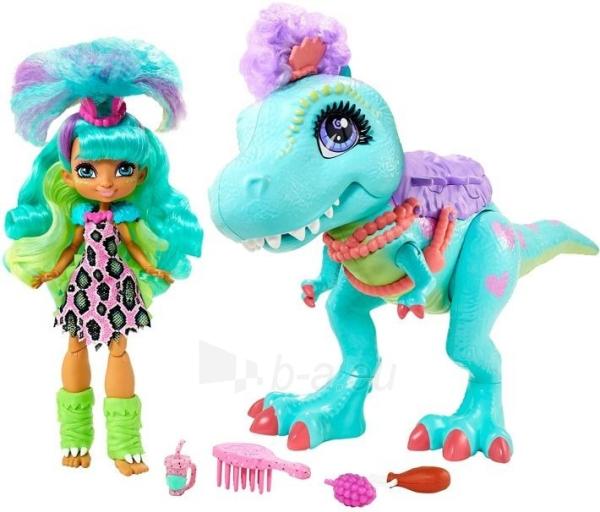 Lėlė GTL69 Cave Club Rockelle & Tyrasaurus Doll & Figure MATTEL Paveikslėlis 4 iš 5 310820252880