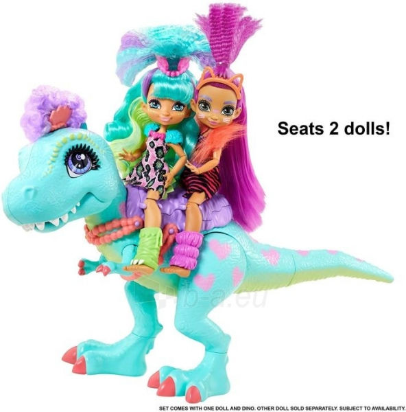 Lėlė GTL69 Cave Club Rockelle & Tyrasaurus Doll & Figure MATTEL Paveikslėlis 5 iš 5 310820252880