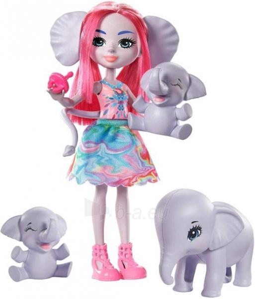 Lėlė GTM30 / GJX43 Enchantimals Savanna Esmeralda Elephant Paveikslėlis 4 iš 6 310820252909
