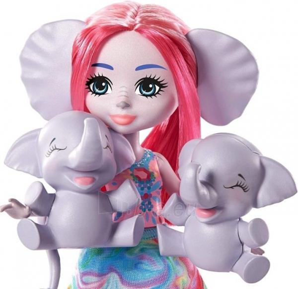 Lėlė GTM30 / GJX43 Enchantimals Savanna Esmeralda Elephant Paveikslėlis 5 iš 6 310820252909