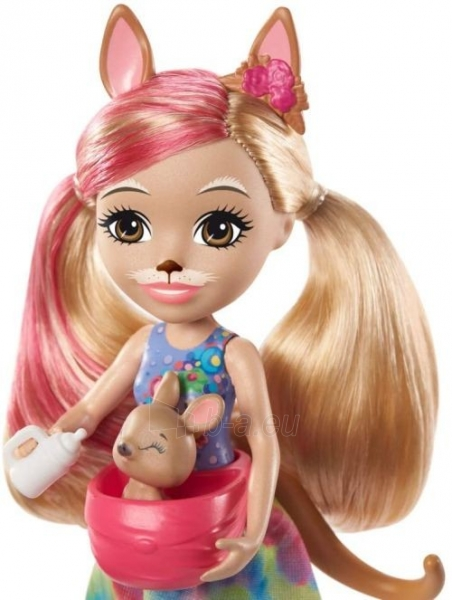 Lėlė GTM31 / GJX43 Enchantimals Sunny Savanna Kamilla Kangaroo Doll with Kangaroo Family Pet MATTEL Paveikslėlis 3 iš 6 310820252912