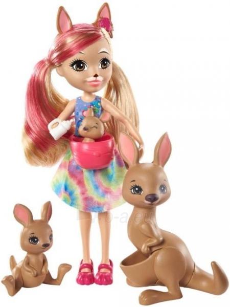 Lėlė GTM31 / GJX43 Enchantimals Sunny Savanna Kamilla Kangaroo Doll with Kangaroo Family Pet MATTEL Paveikslėlis 4 iš 6 310820252912
