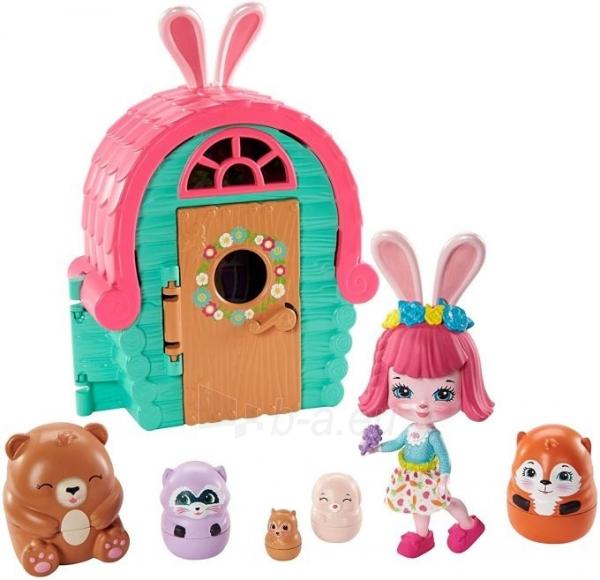 Lėlė GTM47 / GTM46 Enchantimals Bree Bunny and Cabana Doll with Pet Matryoshka Surprise and Toy Cabin MAT Paveikslėlis 1 iš 6 310820252922