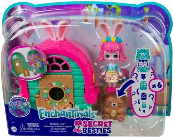 Lėlė GTM47 / GTM46 Enchantimals Bree Bunny and Cabana Doll with Pet Matryoshka Surprise and Toy Cabin MAT Paveikslėlis 2 iš 6 310820252922