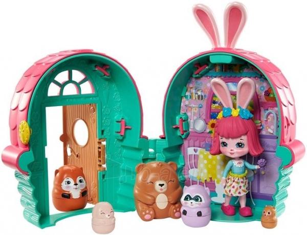 Lėlė GTM47 / GTM46 Enchantimals Bree Bunny and Cabana Doll with Pet Matryoshka Surprise and Toy Cabin MAT Paveikslėlis 3 iš 6 310820252922