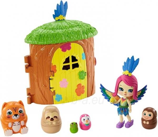 Lėlė GTM49 / GTM46 Enchantimals Peeki Parrot and Tree House Doll with Surprise Matrioska Pet and Toy Hous Paveikslėlis 1 iš 6 310820252923