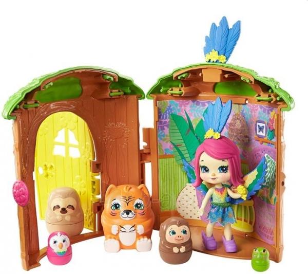 Lėlė GTM49 / GTM46 Enchantimals Peeki Parrot and Tree House Doll with Surprise Matrioska Pet and Toy Hous Paveikslėlis 2 iš 6 310820252923