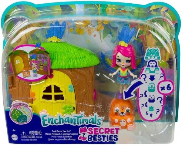 Lėlė GTM49 / GTM46 Enchantimals Peeki Parrot and Tree House Doll with Surprise Matrioska Pet and Toy Hous Paveikslėlis 3 iš 6 310820252923
