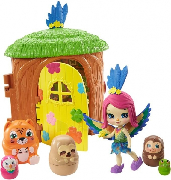 Lėlė GTM49 / GTM46 Enchantimals Peeki Parrot and Tree House Doll with Surprise Matrioska Pet and Toy Hous Paveikslėlis 4 iš 6 310820252923