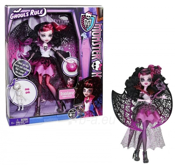 Lėlė X3716 / X3712 Monster High GHOULS RULE Draculaura Paveikslėlis 1 iš 1 250710900270