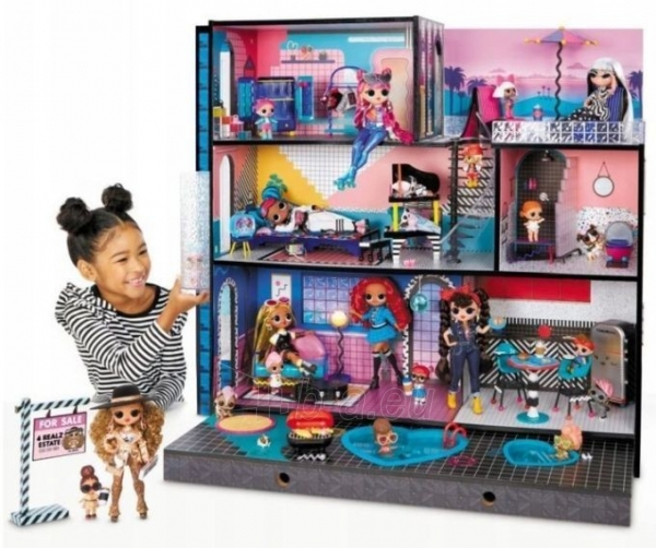 Lėlės namas 570202 LOL Surprise OMG House Домик для больших кукол Модный особняк с бассейном Paveikslėlis 3 iš 6 310820252886