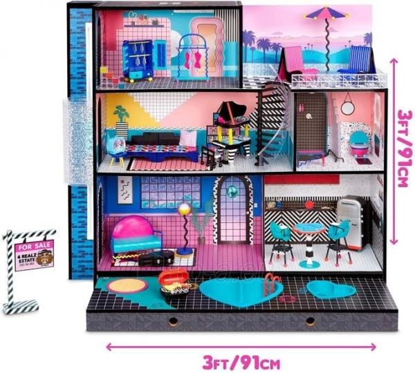 Lėlės namas 570202 LOL Surprise OMG House Домик для больших кукол Модный особняк с бассейном Paveikslėlis 6 iš 6 310820252886