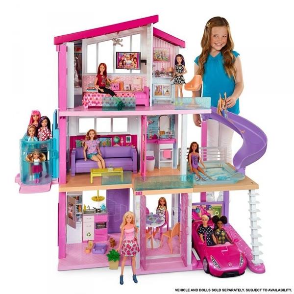 Lėlės namas GNH53 Barbie®Dreamhouse™ Dollhouse with Pool, Slide and Wheelchair Accessible Elevator Paveikslėlis 1 iš 6 310820230582