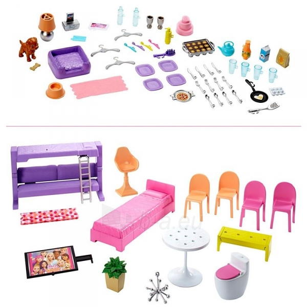Lėlės namas GNH53 Barbie®Dreamhouse™ Dollhouse with Pool, Slide and Wheelchair Accessible Elevator Paveikslėlis 4 iš 6 310820230582