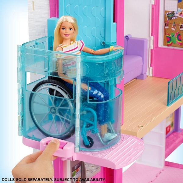 Lėlės namas GNH53 Barbie®Dreamhouse™ Dollhouse with Pool, Slide and Wheelchair Accessible Elevator Paveikslėlis 5 iš 6 310820230582