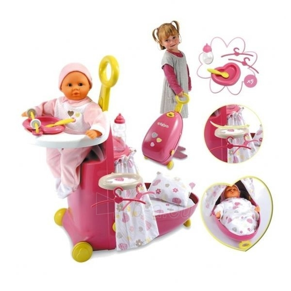 Lėlės priežiūros rinkinys | Smoby Paveikslėlis 1 iš 5 250710901256