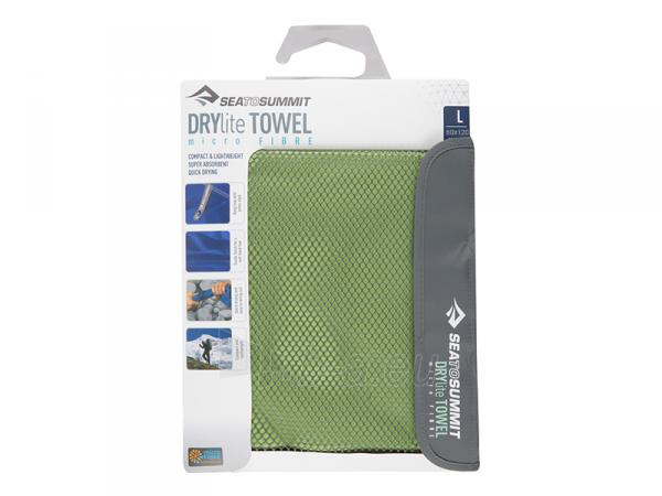 Lengvas mikropluošto rankšluostis Drylite micro towel L 120 x 60 Pilka Paveikslėlis 4 iš 4 310820231644