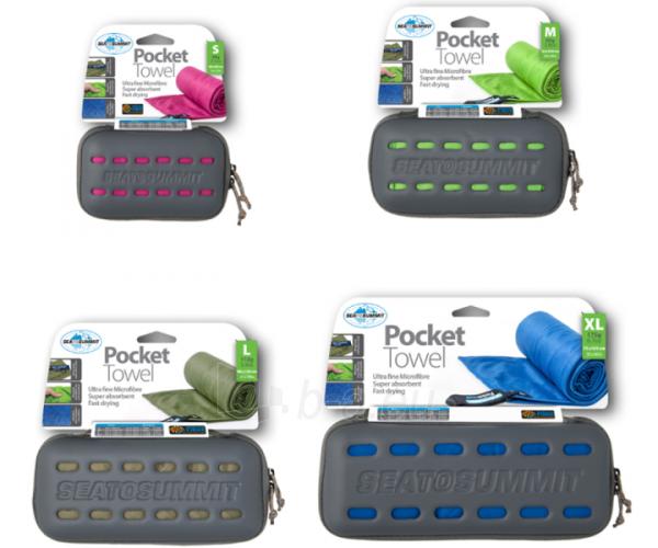 Lengvas mikropluošto rankšluostis Pocket Towel XL 150 x 75 Šviesiai žalia Paveikslėlis 6 iš 7 310820231675