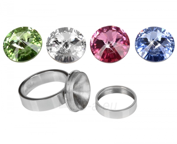 Levien nerūdijančio plieno žiedas Change & Go se 3 krystaly na výměnu (Dydis: 52 mm) Paveikslėlis 3 iš 6 310820023310