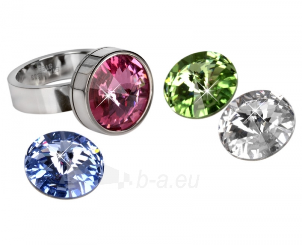 Levien nerūdijančio plieno žiedas Change & Go se 3 krystaly na výměnu (Dydis: 54 mm) Paveikslėlis 1 iš 6 310820023311