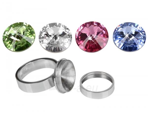 Levien nerūdijančio plieno žiedas Change & Go se 3 krystaly na výměnu (Dydis: 56 mm) Paveikslėlis 3 iš 6 310820023312