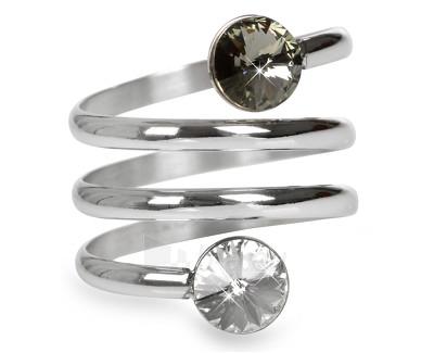 Levien žiedas spiralė Rivoli Crystal & Black Diamond (Dydis: 53 mm) Paveikslėlis 1 iš 1 310820025700