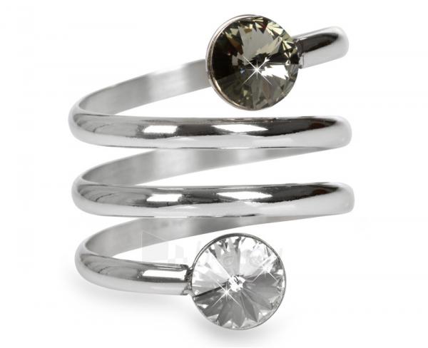 Levien žiedas spiralė Rivoli Crystal & Black Diamond (Dydis: 59 mm) Paveikslėlis 1 iš 3 310820025702