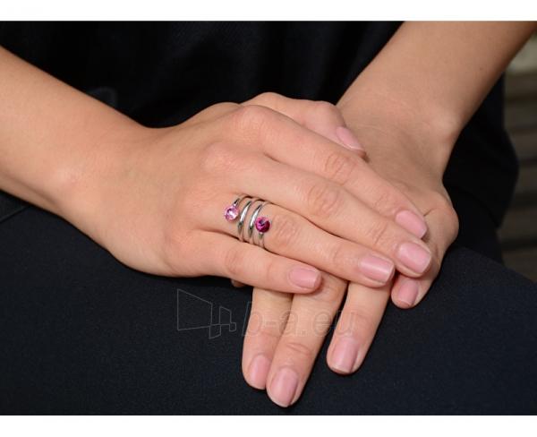 Levien žiedas spiralė Rivoli Crystal & Black Diamond (Dydis: 59 mm) Paveikslėlis 3 iš 3 310820025702