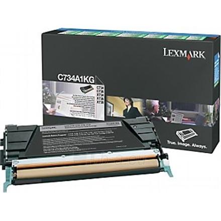 Lexmark C734, C736, X734, X736, X738 Black Return Programme Toner Cartridge (8K) for C734dn / C734dtn / C734dw / C734n Paveikslėlis 1 iš 1 250256003402