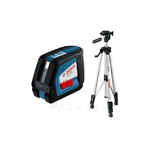 Linijų lazeris su stovu GLL 2-50 + BS 150 Professional Paveikslėlis 1 iš 1 300126000019