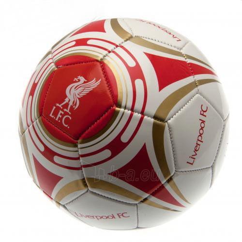 Liverpool F.C. futbolo kamuolys (Baltas su auksiniais lankais) Paveikslėlis 1 iš 4 251009001599