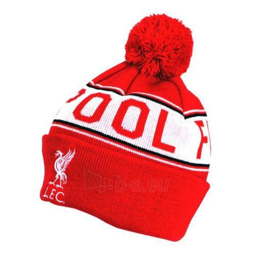Liverpool F.C. žieminė kepurė su bumbulu ir tekstu (Raudona) Paveikslėlis 1 iš 2 251009001500
