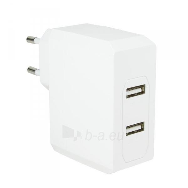 LOGILINK- Universal Wall Charger, 2x USB Ports 17 W Paveikslėlis 1 iš 6 310820011632
