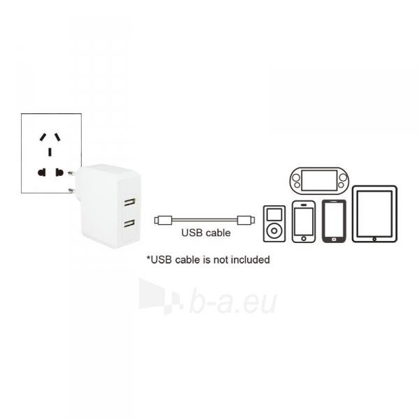 LOGILINK- Universal Wall Charger, 2x USB Ports 17 W Paveikslėlis 3 iš 6 310820011632