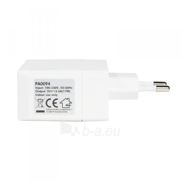 LOGILINK- Universal Wall Charger, 2x USB Ports 17 W Paveikslėlis 5 iš 6 310820011632