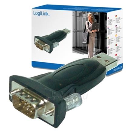 Logilink AU0002B, USB 2.0 adapter to SERIAL adapter (DB9M) Paveikslėlis 1 iš 1 250255080683