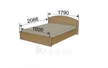 Lova (1600 mm) ULA-1D Paveikslėlis 1 iš 1 300558000011