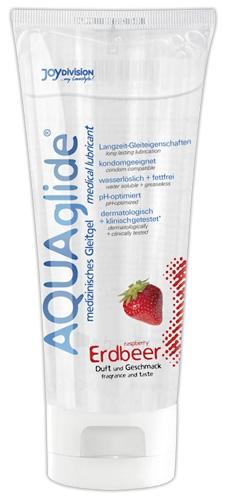 Lubrikantas AQUAglide strawberry braškinis 100 ml Paveikslėlis 1 iš 1 310820021903