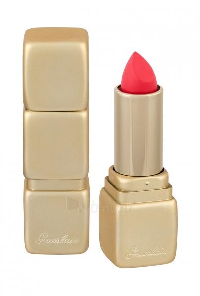 Lūpų dažai Guerlain KissKiss M348 Hot Coral Matte Lipstick 3,5g Paveikslėlis 1 iš 2 310820155912