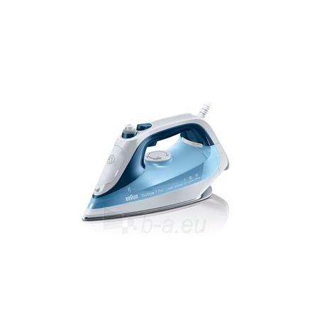 Lygintuvas Braun SI 7062 Blue, 2600 W, Steam Iron, Continuous steam 50 g/min, Steam boost performance 225 g/min, Anti-drip function, Anti-scale system, Vertical steam function, Water tank capacity 300 ml Paveikslėlis 1 iš 3 310820221534
