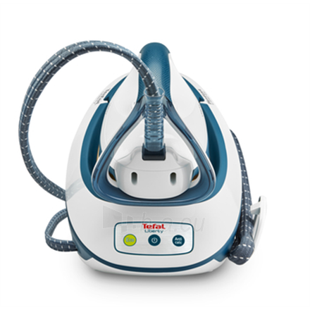 Lygintuvas TEFAL Liberty Steam station SV7030 White/Blue, 2200 W, 1.5 L, 5.5 bar, Auto power off, Vertical steam function, Calc-clean function Paveikslėlis 3 iš 4 310820223110