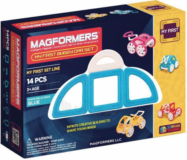 MAGFORMERS My First Buggy 14P-Blue Paveikslėlis 1 iš 2 30005401709