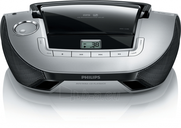 Philips CD Soundmachine AZ1137 Lifestyle design MP3-CD Black Silver Paveikslėlis 1 iš 1 250210100054