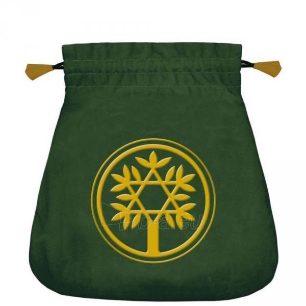 Maišelis kortoms Celtic Tree satininis žalias Paveikslėlis 2 iš 2 310820223877