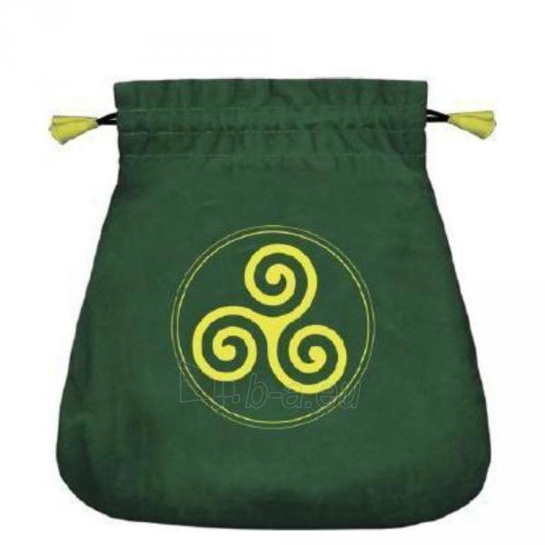 Maišelis kortoms Celtic Triskel satininis žalias Paveikslėlis 2 iš 2 310820223875